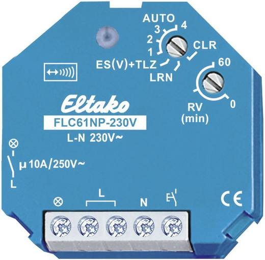 Eltako Draadloze schakelaar FLC61NP-230V Lichtbesturing 1-kanaals Inbouw Schakelvermogen (max.) 2000 W Bereik max. (in