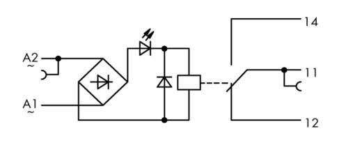 WAGO 859-360 Relaisklem 1 stuks Nominale spanning: 115 V/AC Schakelstroom (max.): 50 mA 1x wisselaar