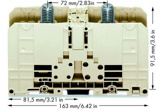 Hoogstroomklemmen 55 mm Boutaansluiting Grijs WAGO 400-490/490-005 1 stuks