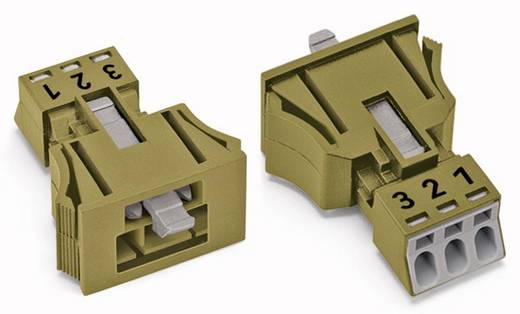 WAGO 890-773 Netstekker Stekker, recht Totaal aantal polen: 3 16 A Lichtgroen 50 stuks