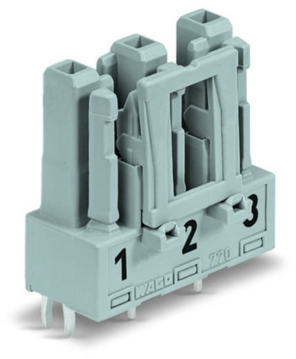 Netstekker Serie (connectoren) WINSTA MIDI Bus, inbouw verticaal Totaal aantal polen: 3 25 A Roze WAGO 100 stuks