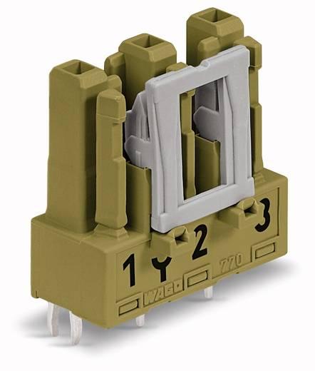 Netstekker Serie (connectoren) WINSTA MIDI Bus, inbouw verticaal Totaal aantal polen: 3 25 A Lichtgroen WAGO 100 stuks