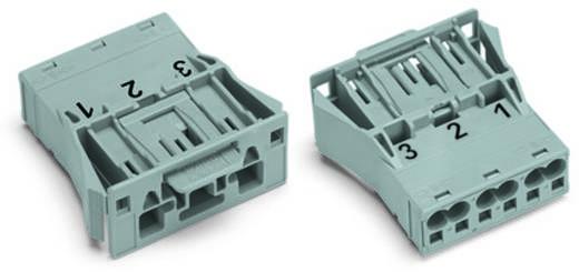 Netstekker Serie (connectoren) WINSTA MIDI Stekker, recht Totaal aantal polen: 3 25 A Roze WAGO 100 stuks