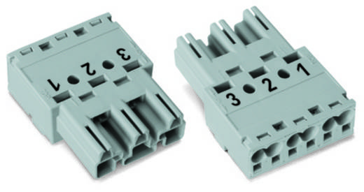 WAGO 770-253 Netstekker Stekker, recht Totaal aantal polen: 3 25 A Grijs 100 stuks