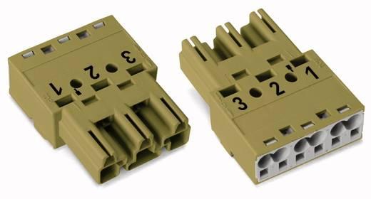 Netstekker Serie (connectoren) WINSTA MIDI Stekker, recht Totaal aantal polen: 3 25 A Lichtgroen WAGO 100 stuks
