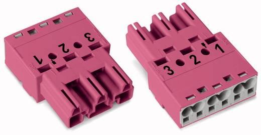 WAGO 770-293 Netstekker Stekker, recht Totaal aantal polen: 3 25 A Roze 100 stuks