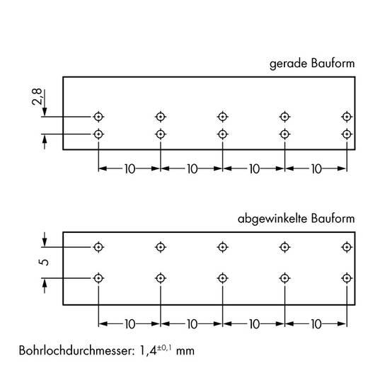 Netstekker Serie (connectoren) WINSTA MIDI Bus, inbouw verticaal Totaal aantal polen: 5 25 A Roze WAGO 50 stuks
