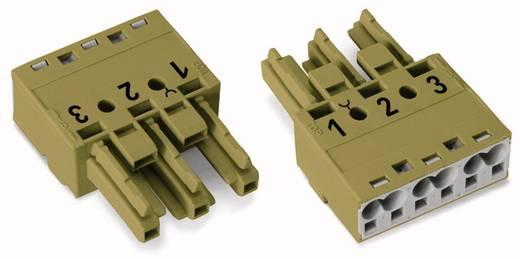 Netstekker Serie (connectoren) WINSTA MIDI Bus, recht Totaal aantal polen: 3 25 A Lichtgroen WAGO 100 stuks