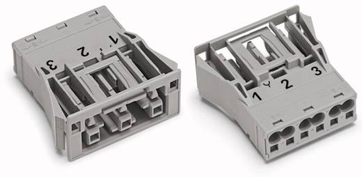Netstekker Serie (connectoren) WINSTA MIDI Bus, recht Totaal aantal polen: 3 25 A Grijs WAGO 100 stuks