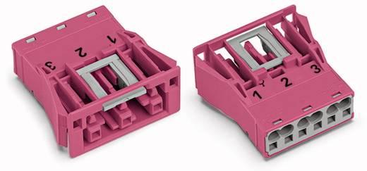Netstekker Serie (connectoren) WINSTA MIDI Bus, recht Totaal aantal polen: 3 25 A Roze WAGO 100 stuks