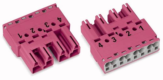 WAGO 770-294/081-000 Netstekker Stekker, recht Totaal aantal polen: 4 25 A Roze 50 stuks