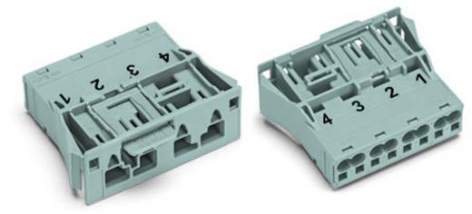 Netstekker Serie (connectoren) WINSTA MIDI Stekker, recht Totaal aantal polen: 4 25 A Roze WAGO 100 stuks