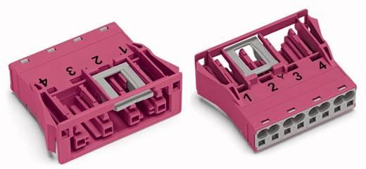 Netstekker Serie (connectoren) WINSTA MIDI Bus, recht Totaal aantal polen: 4 25 A Roze WAGO 100 stuks
