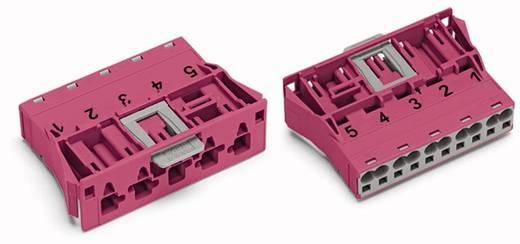 WAGO 770-795/082-000 Netstekker Stekker, recht Totaal aantal polen: 5 25 A Roze 100 stuks