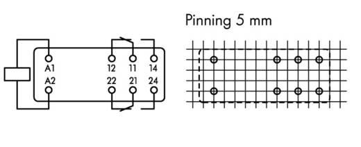 WAGO 788-152 Printrelais 12 V/DC 8 A 2x wisselcontact 20 stuks