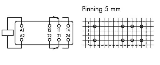 WAGO 788-180 Printrelais 230 V/AC 8 A 2x wisselaar 20 stuks
