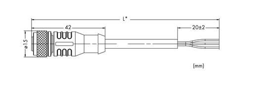 WAGO 5-pol. M12-bus axiaal, open uiteinde 10 m Inhoud: 10 stuks