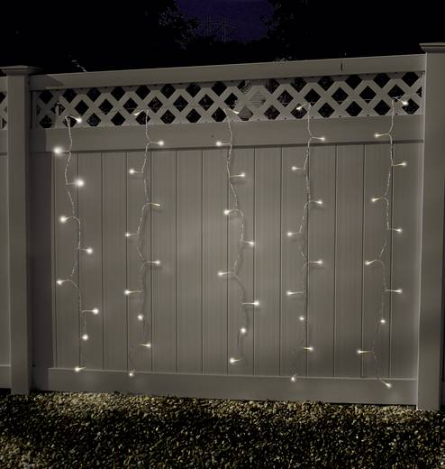 Lichtgordijn micro Warm-wit Buiten 24 V 100 LED (b x h) 180 cm x 135 cm