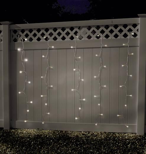 Lichtgordijn micro Warmwit Buiten 24 V 100 LED (b x h) 180 cm x 135 cm