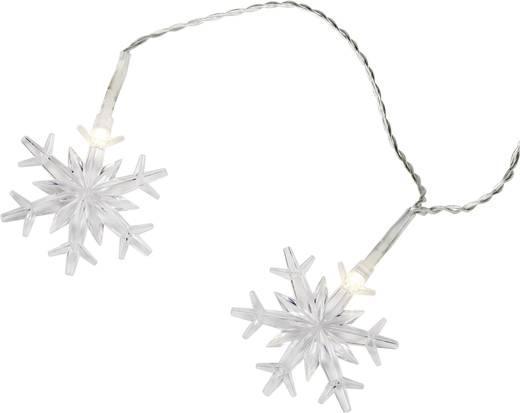 Motief lichtketting Sneeuwvlokken Werkt op het lichtnet 12 LED Warmwit Verlichte lengte: 2.2 m 12-C004