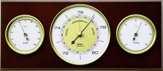 Analoog weerstation Fischer Wetter Weerstation voor binnen echt hout gebeitst Voorspelling voor 12 tot 24 uur