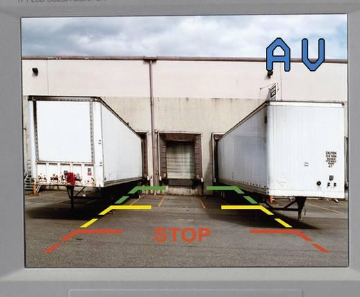 Kabelgebonden achteruitrijcamera SB-118H Afstandshulplijnen Inbouw Zwart