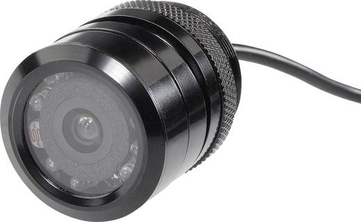 Kabelgebonden achteruitrijcamera SB-208 Extra IR-verlichting Inbouw Zwart