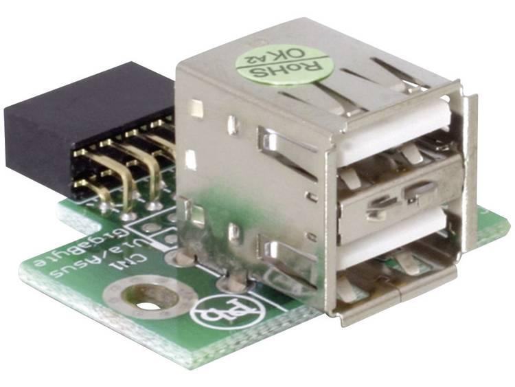 USB-Pinheader-female > 2x USB2.0 female