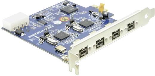 Delock 4 poorten FireWire 800-controllerkaart PCIe