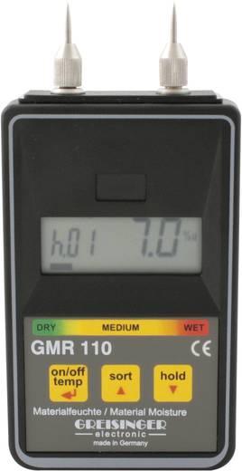 Greisinger GMR 110 Materiaalvochtigheidsmeter Meetbereik bouwvochtigheid 0 tot 100 %Vol. Meetbereik houtvochtigheid 0 to