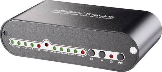 Toslink-matrix-switch 4 poorten met afstandsbediening N/A SpeaKa Professional 29063C1