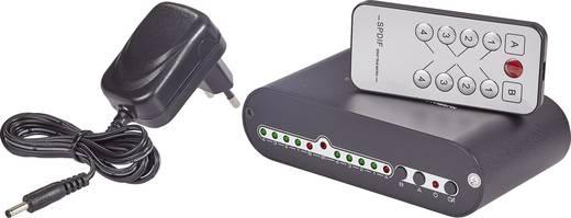 Toslink-matrix-switch 4 poorten met afstandsbediening SpeaKa Professional