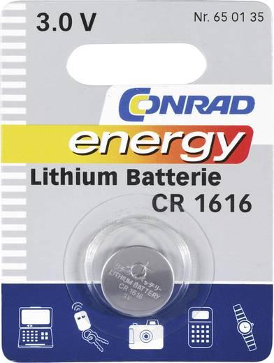 Conrad energy CR1616 Knoopcel Lithium 45 mAh 3 V 1 stuks