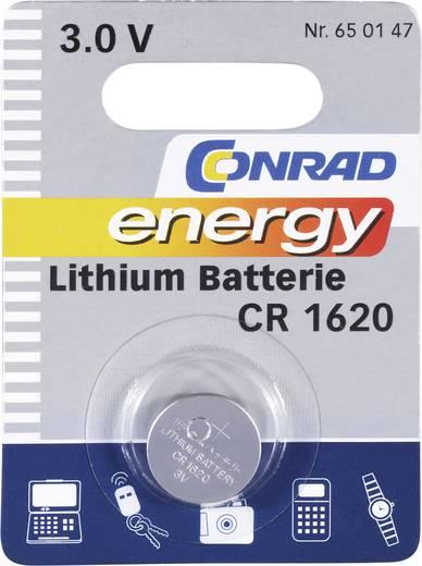 Conrad energy CR1620 Knoopcel Lithium 60 mAh 3 V 1 stuks