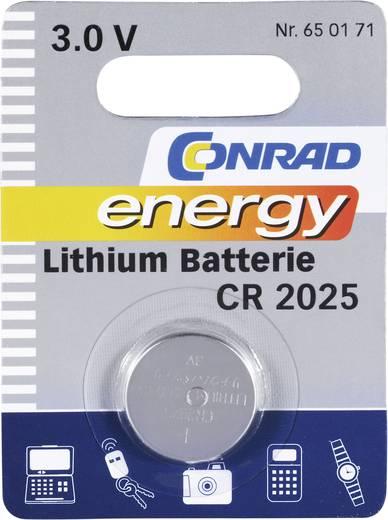 Conrad energy CR2025 Knoopcel Lithium 140 mAh 3 V 1 stuks