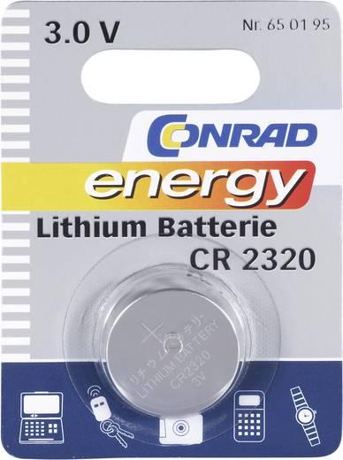 Conrad energy CR2320 Knoopcel Lithium 120 mAh 3 V 1 stuks