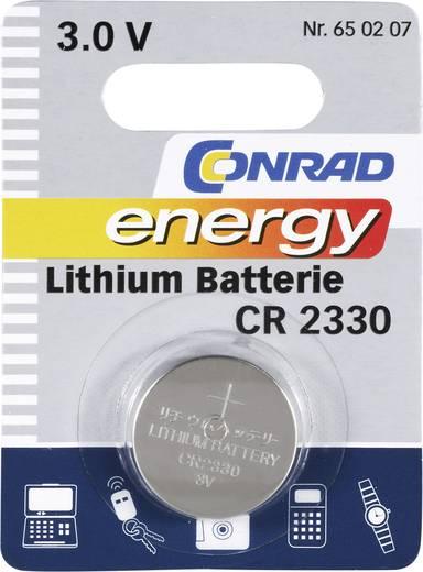 Conrad energy CR2330 Knoopcel Lithium 260 mAh 3 V 1 stuks