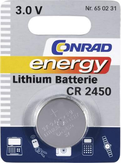 Conrad energy CR2450 Knoopcel Lithium 600 mAh 3 V 1 stuks