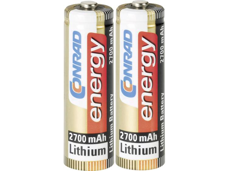 Conrad energy Extreme Power FR6 AA batterij (penlite) Lithium 2900 mAh 1.5 V 2 stuk(s)
