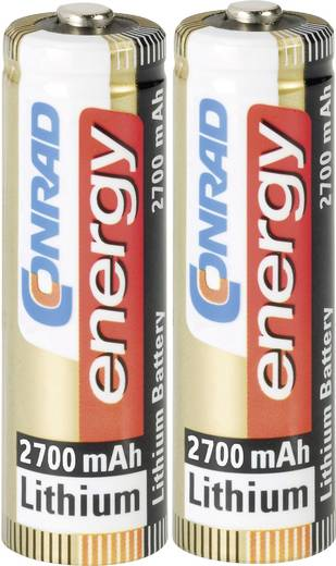 Conrad energy Extreme Power LR06 AA batterij (penlite) Lithium 2900 mAh 1.5 V 2 stuks