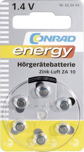 ZA10 Knoopcel Zink-lucht 1.4 V 90 mAh Conrad energy 6 stuks