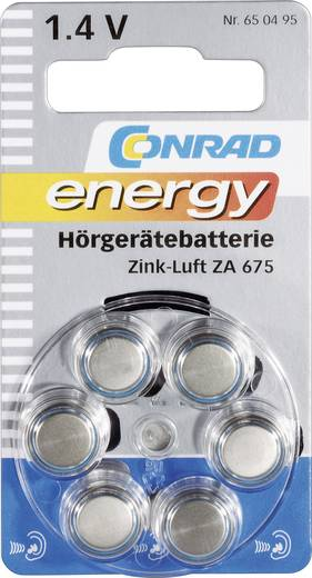 Conrad energy PR44 Knoopcel Zink-lucht 630 mAh 1.4 V 6 stuks