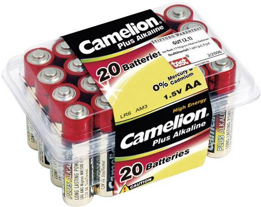 AAA batterij (potlood) Camelion LR03 Alkaline 1.5 V 20 stuks