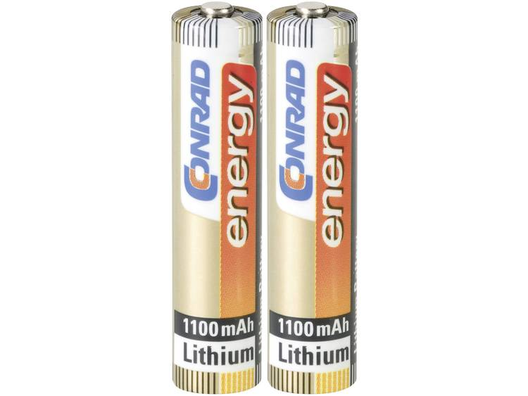 Conrad energy Extreme Power LR03 AAA batterij (potlood) Lithium 1100 mAh 1.5 V 2 stuks