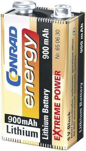 Conrad energy Extreme Power 6LR61 9 V batterij (blok) Lithium 900 mAh 9 V 1 stuks