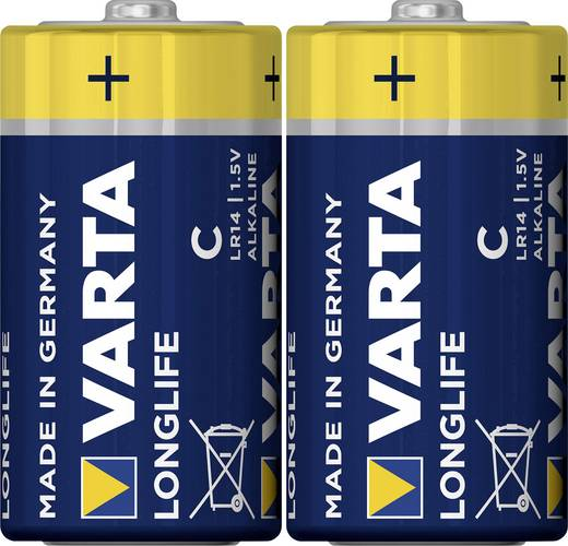 Varta Longlife LR14 C batterij (Baby) Alkaline (Alkali-mangaan) 1.5 V 2 stuks