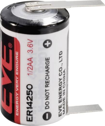 EVE 1/2 AA, ER14250T Speciale batterij 1/2 AA U-soldeerlip Lithium 3.6 V 1200 mAh 1 stuks
