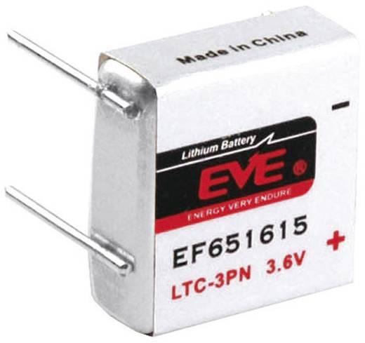 EVE EF651615 Speciale batterij LTC-3PN U-soldeerpinnen Lithium 3.6 V 400 mAh 1 stuks
