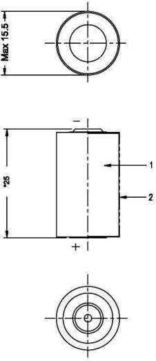 CR 1/2 AA Speciale batterij 3 V Lithium 970 mAh Varta CR1/2 AA 1 stuks