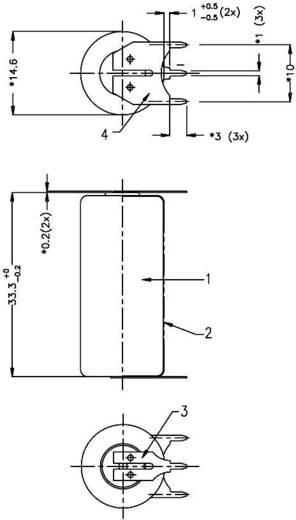 Varta CR2/3 AA SLF Speciale batterij CR 2/3 AA SLF U-soldeerpinnen Lithium 3 V 1350 mAh 1 stuks